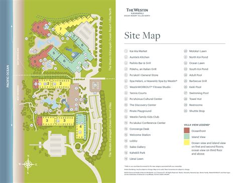 kaanapali resort map the westin kā anapali resort villas maps