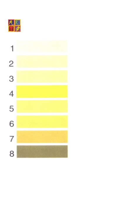 urine color chart simple urine color chart free
