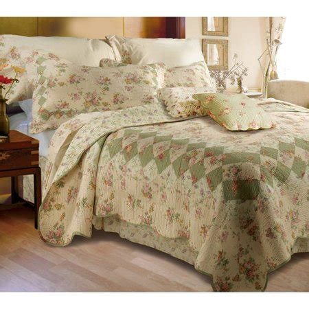 global trends bloomfield ivory quilt bedding set walmartcom