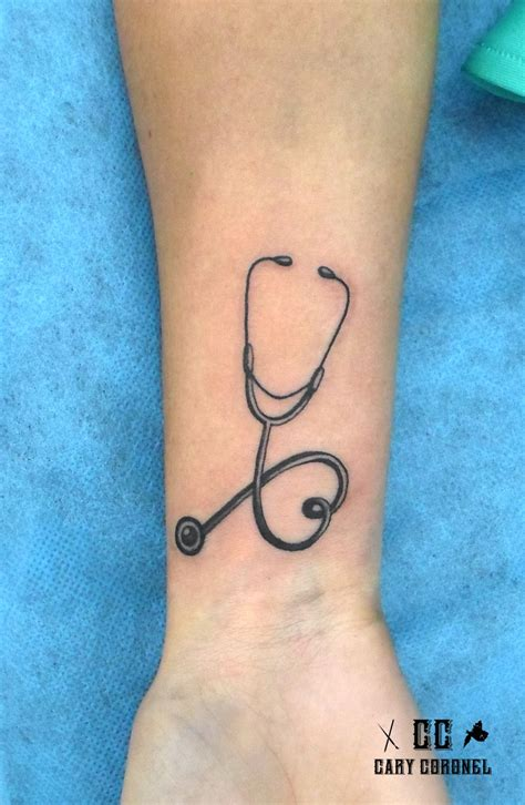 heartbeat stethoscope tattoo stethoscope tattoo my tattoo work pinterest