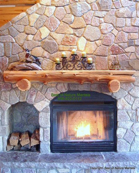 rustic fireplace log mantel log fireplace mantel rustic