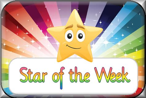 printable star of the week awards