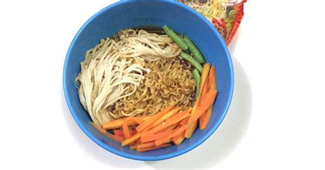 resep mie instan jamur enak  sederhana cookpad
