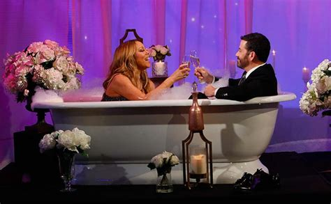 mariah carey bathtub watch jimmy kimmel interviews mariah carey in a bathtub