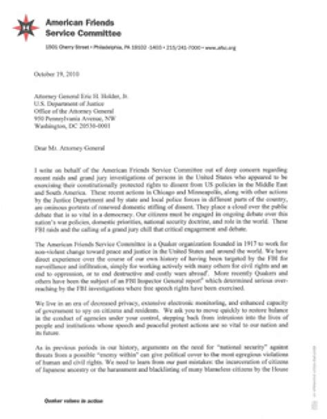 attorney general cover letter letter to attorney general holder october 2010 american