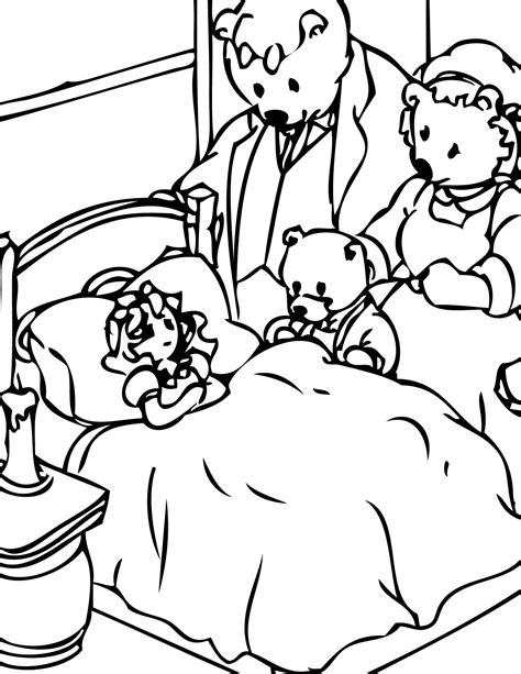 Printable Coloring Pages Goldilocks Three Bears | goldilocks and the three bears coloring pages coloring home