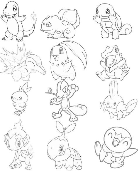 pokemon kanto coloring pages 9 images of kanto starters pokemon coloring pages all