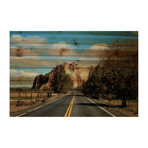 Wood Poster Poster Kayu Kayu Pinus 24 X 18 Cm Desain Standar highway view pine wood 24 quot w x 16 quot h x 1 5 quot d marmont hill touch of modern