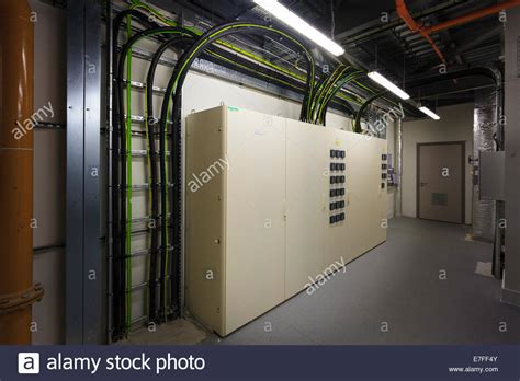 electrical plant room cabling to electrical boxes in plant room stock photo royalty free image 73485243 alamy