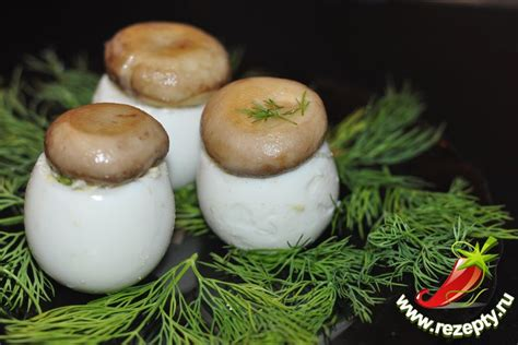 рецепт фаршированных грибов фото
