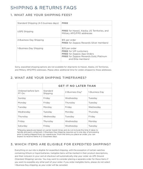 delivery returns shipping and returns zappos com