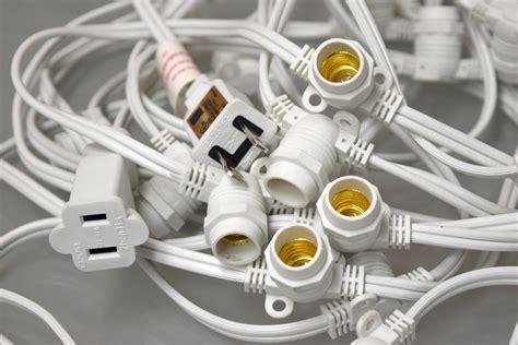 Bag Import Ready White G40 50 socket outdoor commercial string light g40 globe bulbs 54 ft white cord ebay