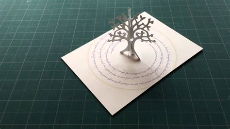 pop up tree card youtube