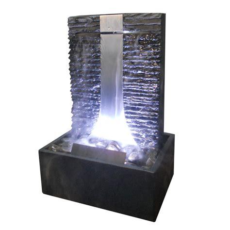 beleuchtung zimmerbrunnen zimmerbrunnen flamme 46 wasserwand edelstahl schiefer