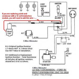 Ford 8n Wiring Diagram Wiring Diagrams 8n Ford Tractor 1 Wire Alternator Autos Post