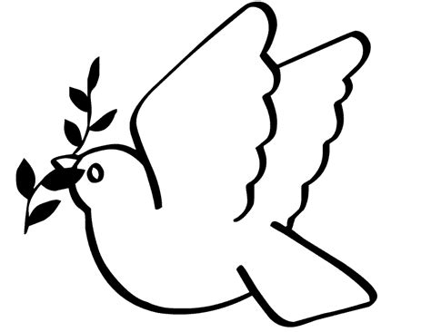 dove coloring page dove free printable coloring pages