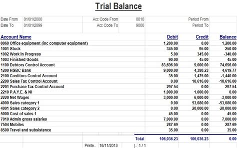 Trial Balance Template Excel Download Spreadsheettemple Microsoft Excel Balance Sheet Template
