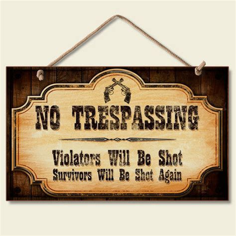 free ebay auction templates western lodge cabin decor no trespassing wood sign w