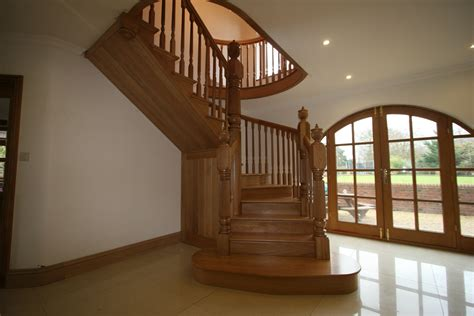 stair case curved oak staircases hythe joinery staircases glass