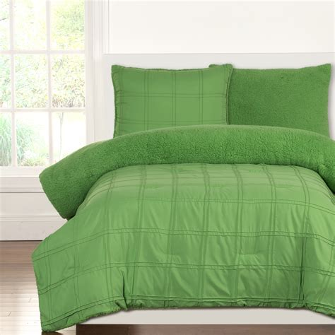 green twin comforter sets playful plush jungle green by crayola bedding