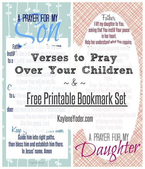 printable prayer bookmarks free printable bookmark set of prayers for son daughter