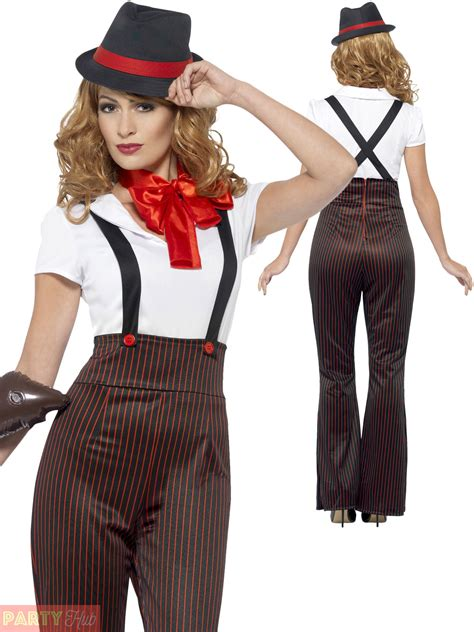 fashion outfits for women in their 20s ladies glam gangster costume adults 1920s moll fancy dress