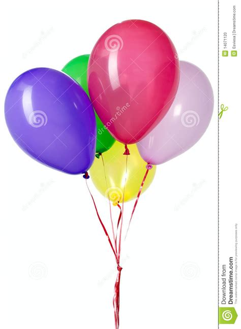 String Balloons - balloon with string for decoration stock photo