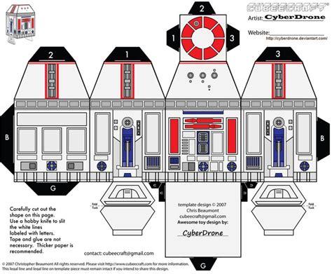 Wars Paper Craft - cubee r5 d4 by cyberdrone deviantart on deviantart