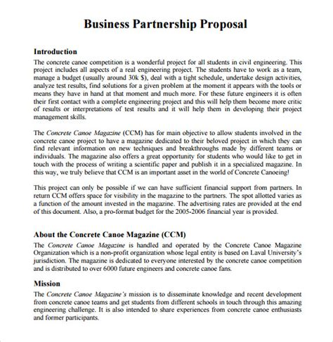 business partnership template 8 partnership templates to for free