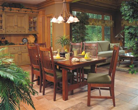 mission style dining room mission style cherry dining furniture craftsman dining