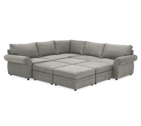 sofa pit coolest couch ever potterybarn pearce upholstered 6 piece
