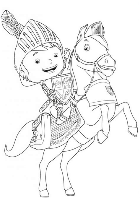 nick jr mike the knight coloring pages mike the knight galahad the great coloring sheet