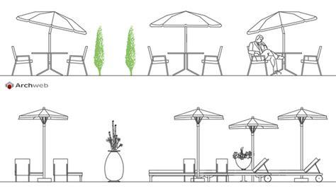 tavoli da giardino dwg ombrelloni 2d disegni dwg