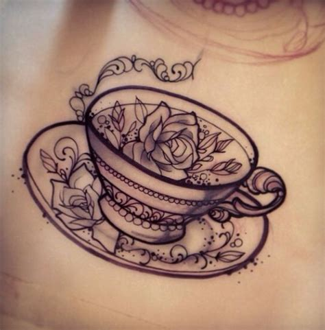 tea cup tattoo 50 unique teacup tattoos