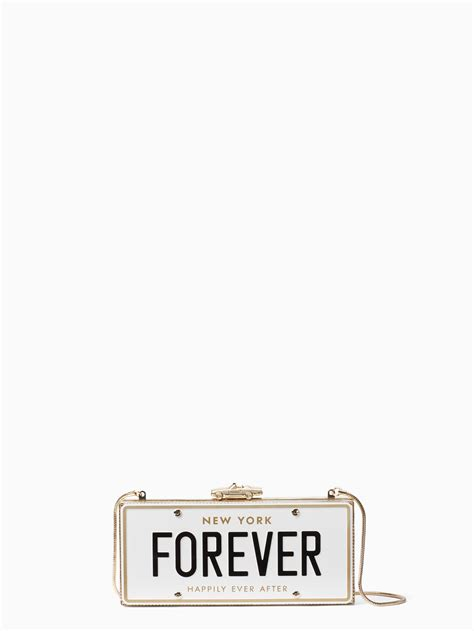 Kate Spade License Plate Canvas Shopper by Kate Spade New York Wedding Belles License Plate Clutch Lyst