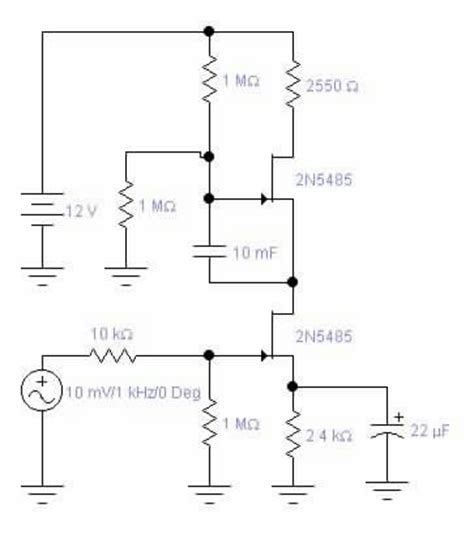resistor capacitor buffer foolin with fets