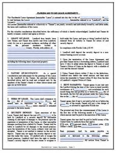 free florida month to month lease agreement pdf word