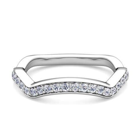 curved wedding band in platinum my wedding ring