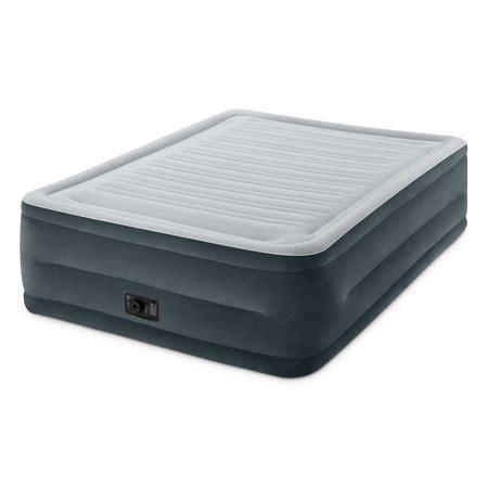 intex 22 quot durabeam high rise airbed mattress with built in walmart