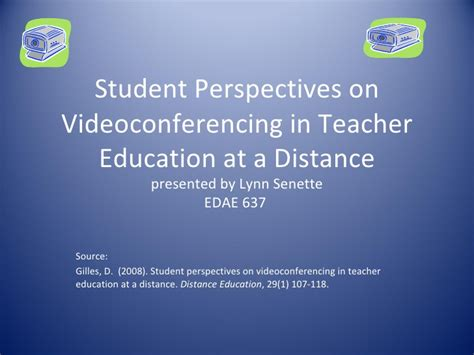 Student Persepctives On Tech Mba by Student Perspectives On Videoconferencing In