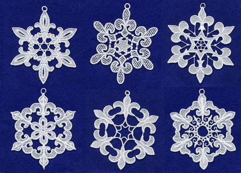 embroidery design lace free fleur de lis lace snowflakes embroidery design set by