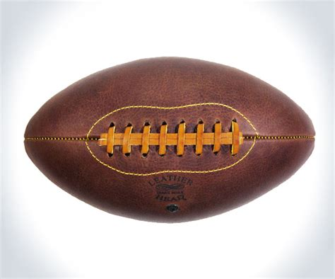 Handmade Leather Football - leather handmade football dudeiwantthat