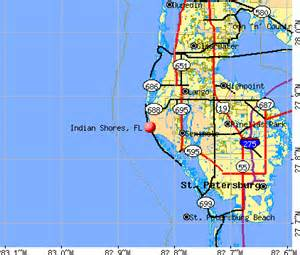 where is indian shores florida on map indian shores florida fl 33785 profile population