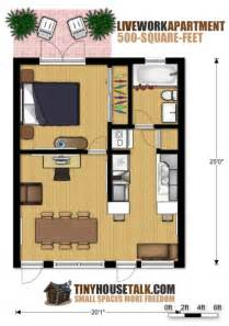 Floor Plans For Small Apartments Small Apartment Design For Live Work 3d Floor Plan And
