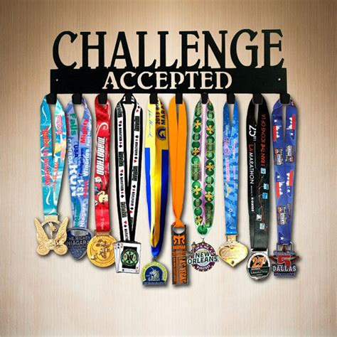 Runners Medal Display Rack by Medal Display Challenge Accepted 10 Hook Running Medal