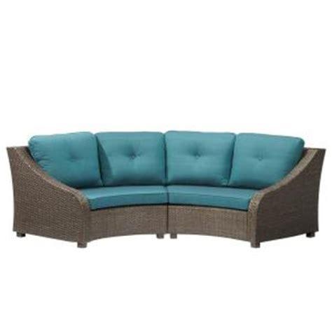 home depot outdoor sofa hton bay torquay wicker outdoor sofa with charleston