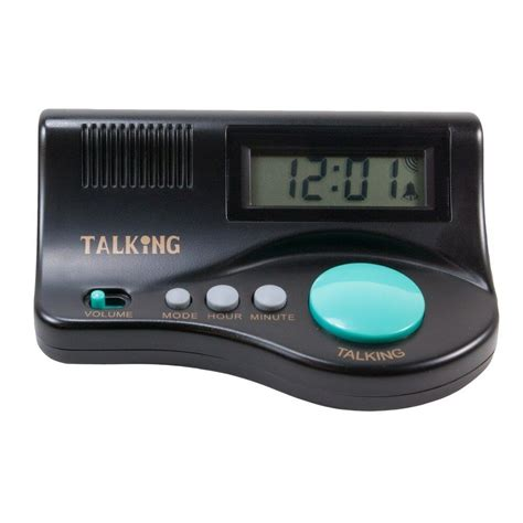 talking curve alarm clock with large lcd display and clear voice new ebay