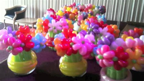 Gamis Flowery Balon balloon flowers in vases