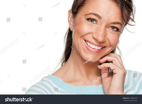 middle aged woman chignon smiling middle aged woman stock photo 108080243 shutterstock