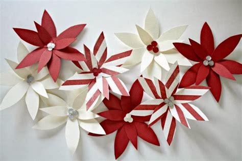 paper poinsettia flower tutorial paper poinsettia ornament tutorial u create